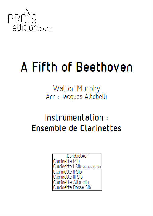 A Fifth of Beethoven (Saturday Night Fever) - Quintette Clarinettes - MURPHY W. - page de garde