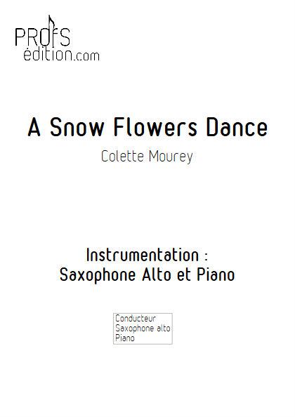 A Snow Flowers Dance - Duo Saxophone & Piano - MOUREY C. - page de garde