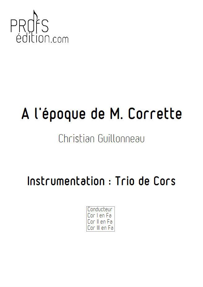 A l'époque de Mr Corrette - Trio Cors - GUILLONNEAU C. - page de garde