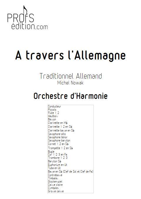 A travers l'Allemagne - Orchestre d'Harmonie - TRADITIONNEL ALLEMAND - page de garde