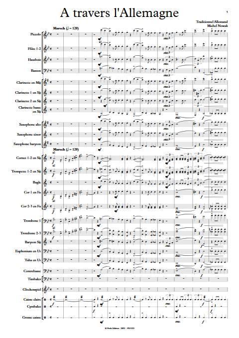 A travers l'Allemagne - Orchestre d'Harmonie - TRADITIONNEL ALLEMAND - app.scorescoreTitle