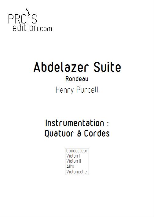 Rondeau (Abdelazer Suite) - Quatuor à cordes - PURCELL H. - page de garde