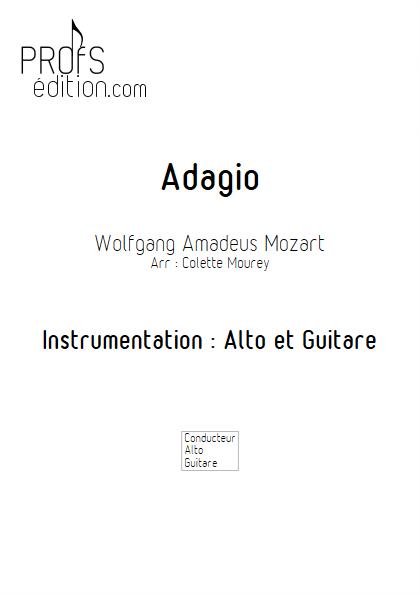 Adagio - Alto et Guitare - MOZART W. A. - page de garde