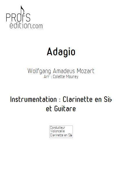 Adagio - Clarinette et Guitare - MOZART W. A. - page de garde