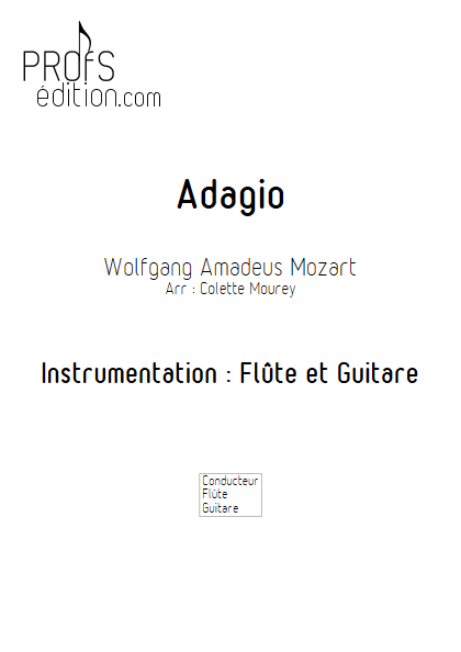 Adagio - Flûte et Guitare et Guitare - MOZART W. A. - page de garde