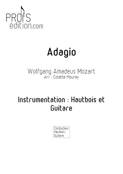 Adagio - Hautbois et Guitare et Guitare - MOZART W. A. - page de garde
