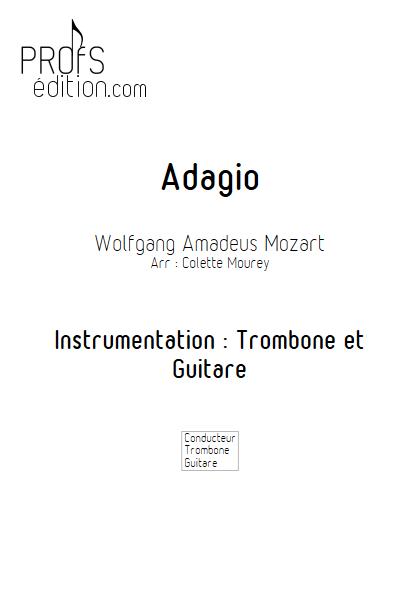 Adagio - Trombone et Guitare et Guitare - MOZART W. A. - page de garde