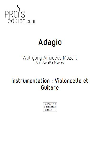 Adagio - Violoncelle et Guitare et Guitare - MOZART W. A. - page de garde