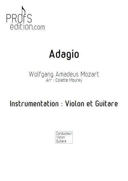 Adagio - Violon et Guitare et Guitare - MOZART W. A. - page de garde
