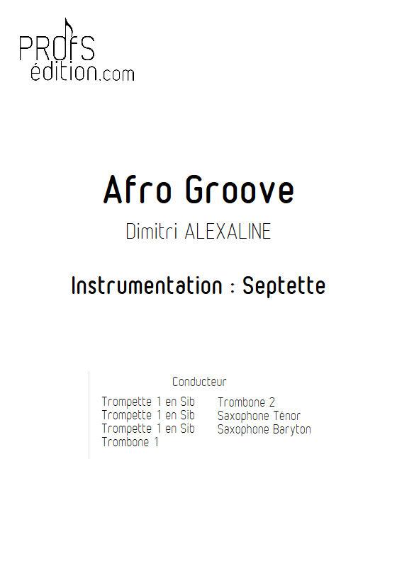 Afro Groove - Septet vents - ALEXALINE D. - page de garde