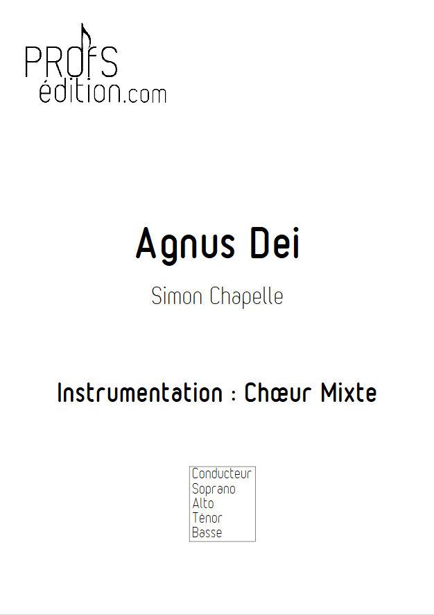 Agnus Dei - Chœur Mixte - CHAPELLE S. - page de garde