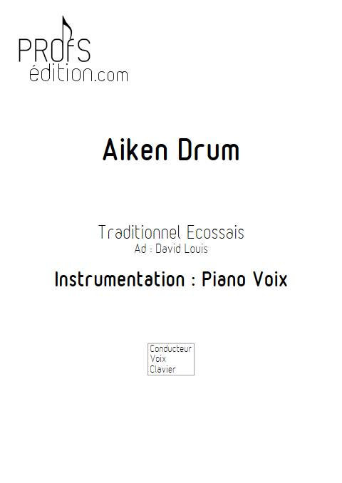 Aiken Drum - Piano Voix - TRADITIONNEL ECOSSAIS - page de garde