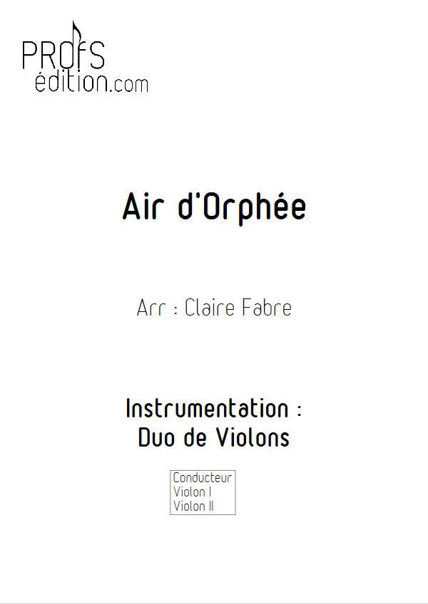 Air d'Orphée - Duo Violons - GLUCK C. W. - page de garde