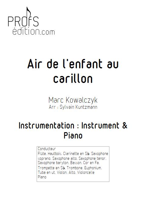 Air de l'enfant au Carillon - Duo - KOWALCZYK M. - page de garde