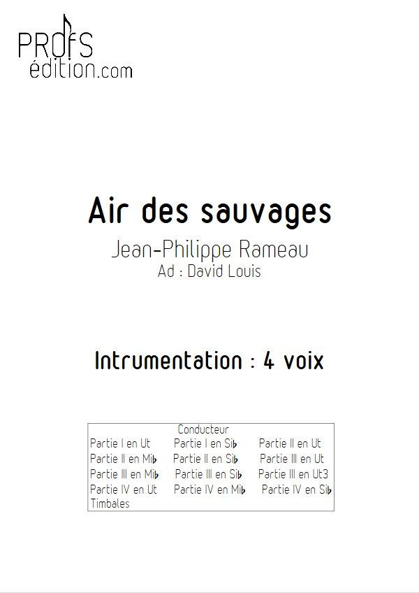 L'air des Sauvages - Ensemble Géométrie Variable - RAMEAU J. P. - page de garde