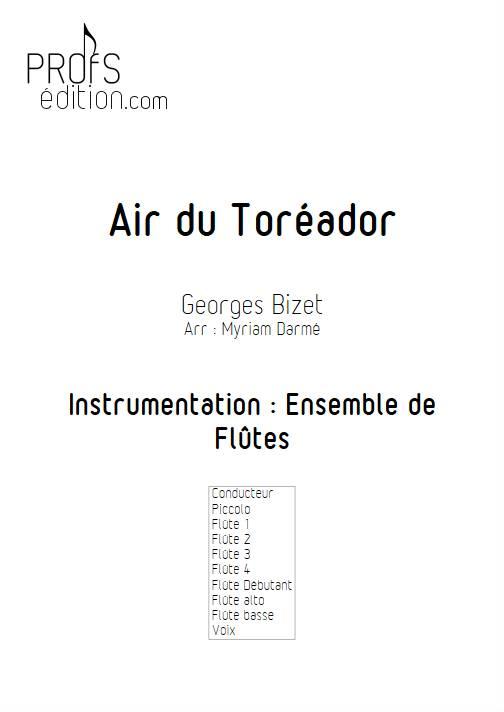 Air du Toréador - Ensemble de Flûtes - BIZET G. - page de garde