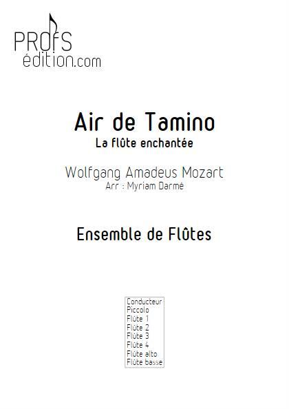 Air de Tamino - Ensemble de Flûtes - MOZART W.A. - page de garde