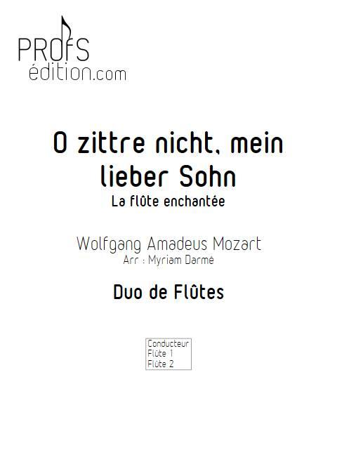 Air de la Reine de la nuit - Duo de Flûtes - MOZART W. A. - page de garde