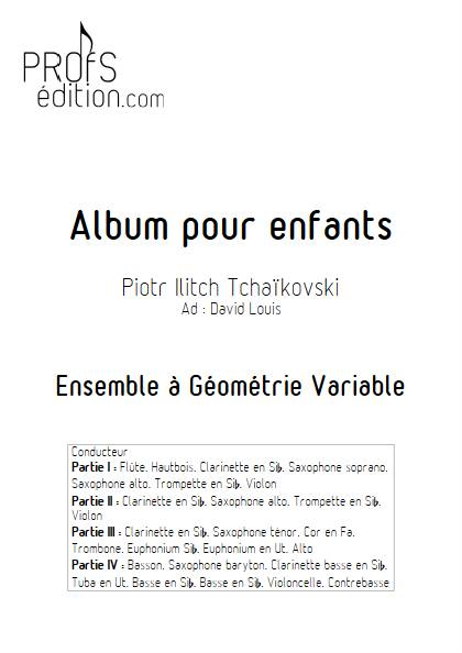 Album pour Enfants - Ensemble Variable - TCHAIKOVSKY P. I. - page de garde