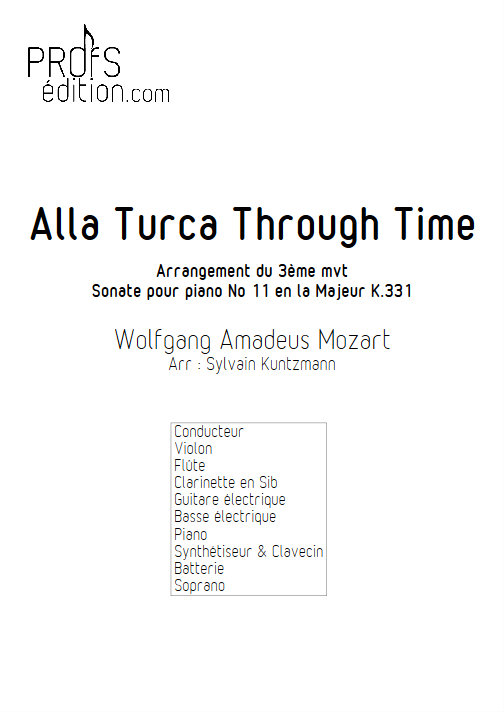 Alla Turka Through Time - Nonetto - MOZART W. A. - page de garde