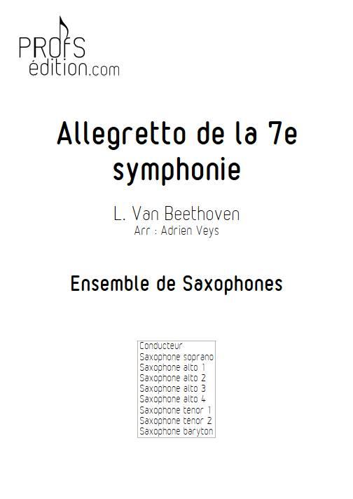 Allegretto de la 7ème symphonie - Ensemble de Saxophones - BEETHOVEN L. V. - page de garde