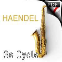 Allegro de la 3ème sonate pour flute - Quatuor de Saxophones - HAENDEL G. F.