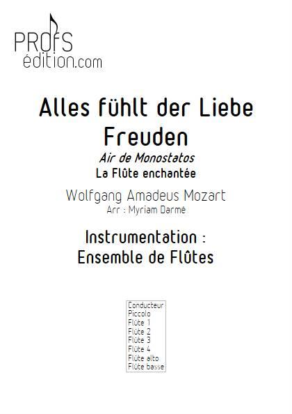 Alles fühlt des Liebe Monostatos - Ensemble de Flûtes - MOZART W.A. - page de garde