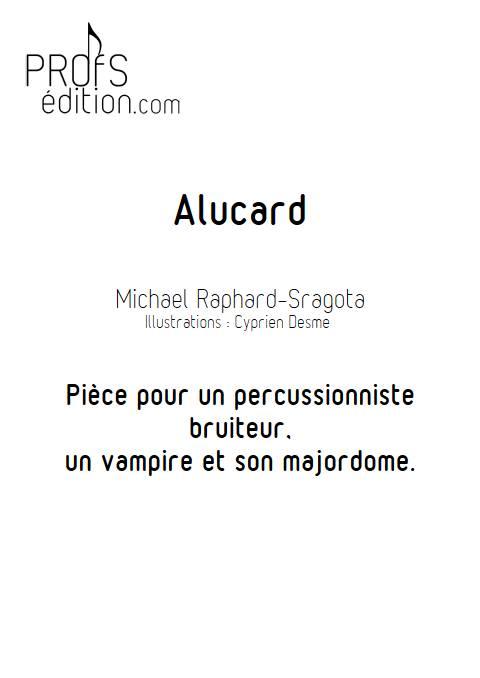 Alucard - Ensemble de percussions - RAPHARD M. - page de garde