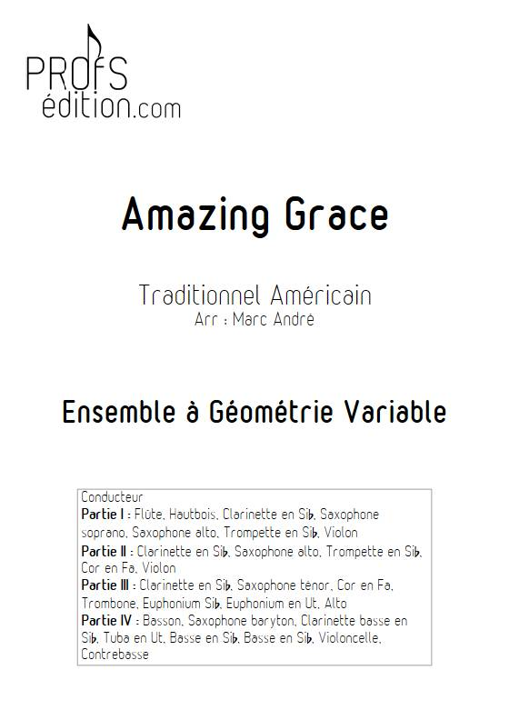 Amazing Grace - Ensemble Variable 2e Cycle - TRADITIONNEL AMERICAIN - page de garde