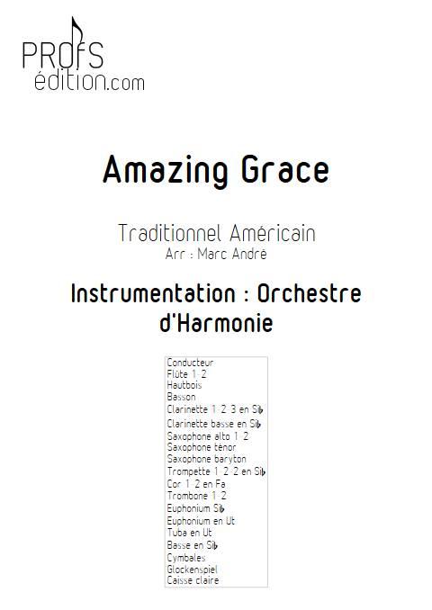 Amazing Grace - Orchestre d'Harmonie - TRADITIONNEL AMERICAIN - page de garde
