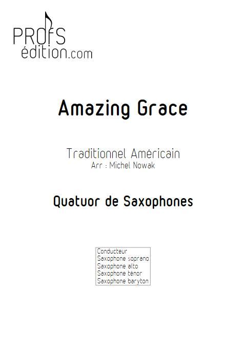 Amazing Grace - Quatuor de Saxophones - TRADITIONNEL AMERICAIN - page de garde