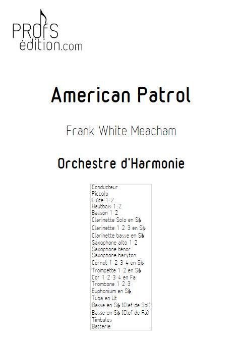 American Patrol - Orchestre d'Harmonie - MEACHAM F.W. - page de garde