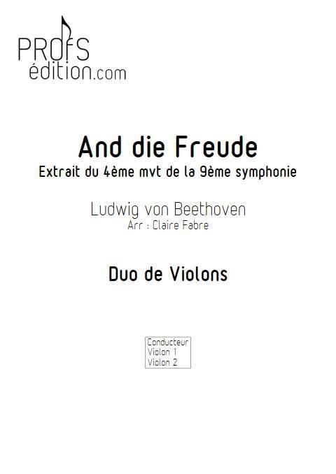 And die Freude - Duo de Violons - BEETHOVEN L. V. - page de garde