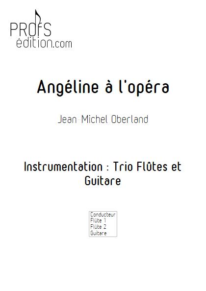 Angéline à l'Opéra - 2 flûtes et Piano - OBERLAND J. M. - page de garde