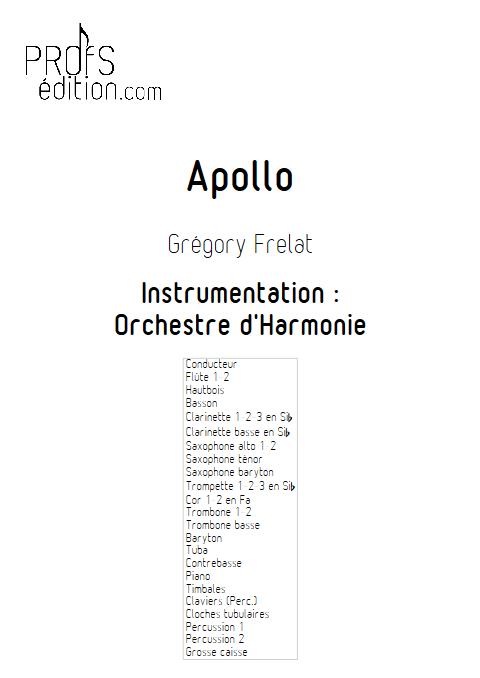 Apollo - Orchestre d'Harmonie - FRELAT G. - page de garde