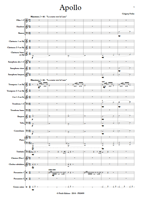 Apollo - Orchestre d'Harmonie - FRELAT G. - Partition