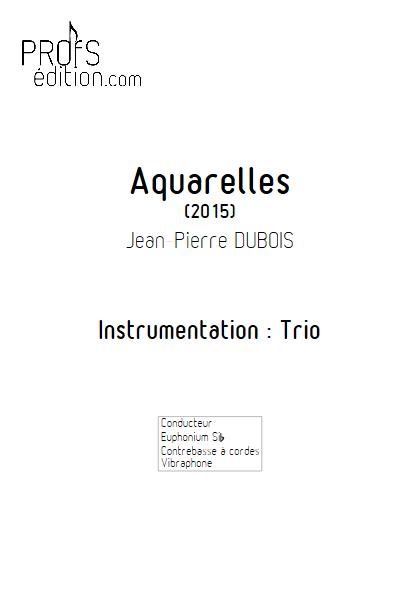 Aquarelles - Trio - DUBOIS J-P - page de garde