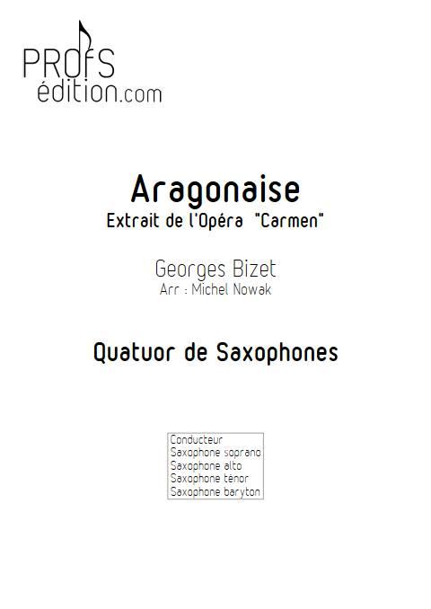Aragonaise - Quatuor de Saxophones - BIZET G. - page de garde