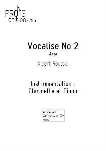 Aria - Duo Clarinette et Piano - ROUSSEL A. - page de garde