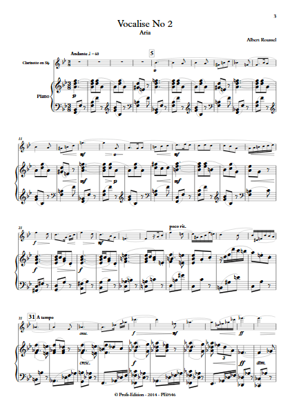 Aria - Duo Clarinette et Piano - ROUSSEL A. - app.scorescoreTitle