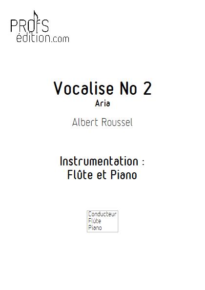 Aria - Duo Flûte et Piano - ROUSSEL A. - page de garde