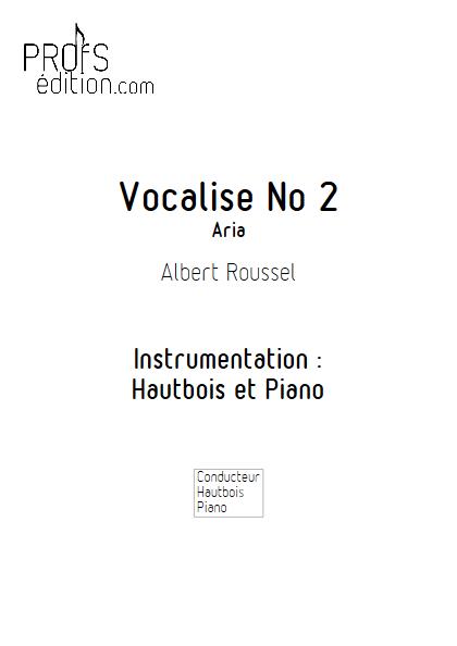 Aria - Duo Hautbois et Piano - ROUSSEL A. - page de garde