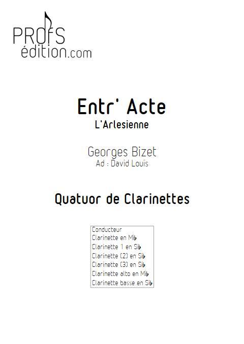 Entr'acte Arlesienne - Quatuor de Clarinettes - BIZET G. - page de garde