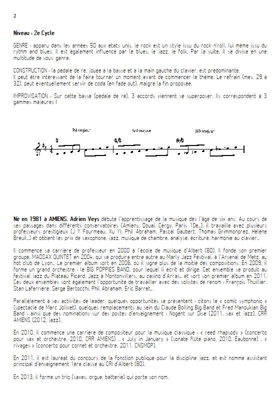 At last - Quatuor de Flûtes - VEYS A. - Fiche Pédagogique