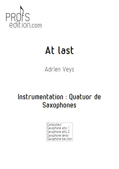 At last - Quatuor de Saxophones- VEYS A. - page de garde