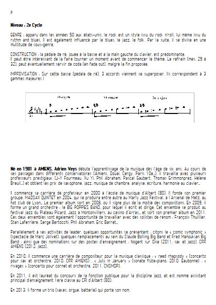 At last - Quatuor de Saxophones- VEYS A. - Fiche Pédagogique