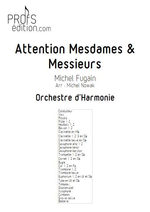 Attention Mesdames & Messieurs - Orchestre d'Harmonie - FUGAIN M. - page de garde