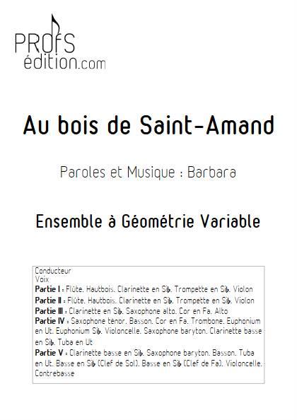 Au bois de saint-Amand - Ensemble Variable - BARBARA - page de garde