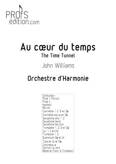 Au cœur du temps - Orchestre d'Harmonie - WILLIAMS J. - page de garde