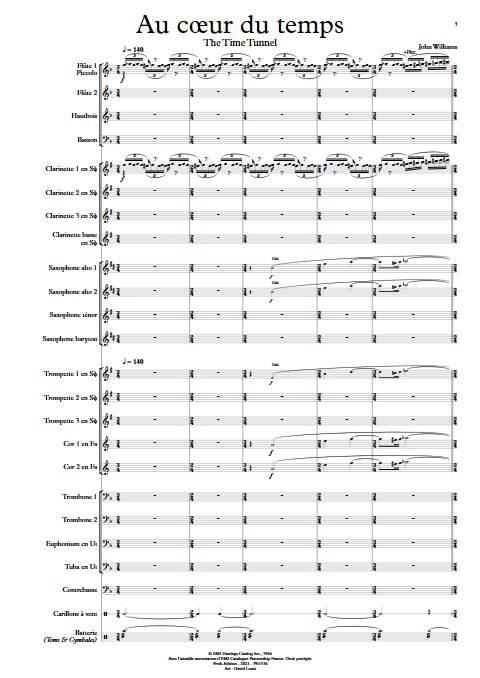 Au cœur du temps - Orchestre d'Harmonie - WILLIAMS J. - app.scorescoreTitle